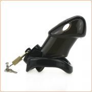 Rikers Locking Chastity Device - Black