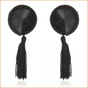 Satin Lace Nipple Covers With Tassels