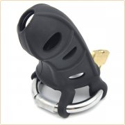 Silicone Male Chastity Device With Adjust Ring