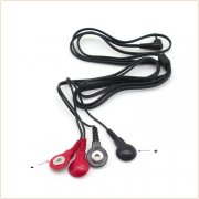 Snap Electrode Lead Wires 4 In 1 - Double Color