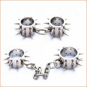 Spiked Stainless Steel Handcuffs