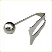 Stainless Steel Anal Plug with Chastity Plate