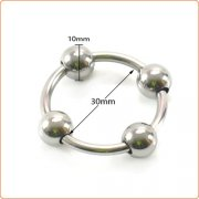 Steel Head Ring with 4 Balls