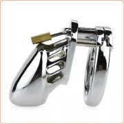 Steel Male Padlock CB6000S Chastity Cage Device - Small