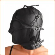 Strict Asylum Hood with Removable Blindfold and Muzzle