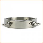 Thick Iron Locking Collar With 4 Ring For Male And Female