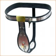 Trap Locking Male Chastity Belt with Cock Cage