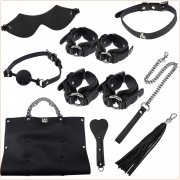Travel Bondage Kit With PU Handbag