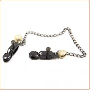 Unisex Alligator Nipple Clamps With Bell And Chain