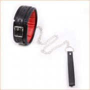 black Binding Red Lined Neck Collar