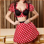 3pcs Lovely Mickey Mouse Cosplay Uniform