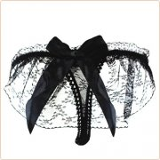 Alluring Transparent Floral Lace T-string For Ladies
