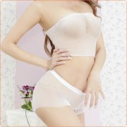 Charming Mesh See-through Crotchless Bra And Panty Set Lingerie