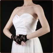 Elegant Lace Half-finger Gloves For Ladies