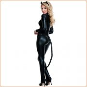 Extreme Sexy Catwomen Cosplay Jumpsuit Uniform