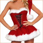Fashion Cosplay Santa Sexy Corset-style Suit Costume