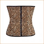 Functional Leopard Hot Rubber Waist Shaper Corset