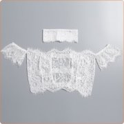 Hot Sale Off-shoulder And Cut Off Lace Night Suit