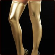 Hot Selling Faux Leather Thigh Highs Stockings