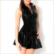 Hot Selling Stand Collar Zipper Front Dress