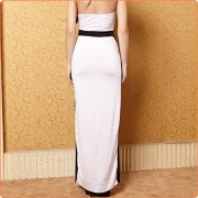 Long Halter Hollow Out Both Sides Split Flowing Dress