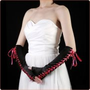 Multi-color Ladies Like Ribbon Decorated Gloves