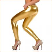 New Bright Faux Leather Dancing Pants For Women