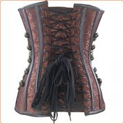 Sexy Retro Steampunk Overbust Bustiers Lingerie