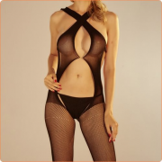 Simple Two Ways Of Wearing Sexy Body Stocking