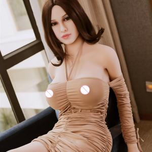 Fast Shipping 165cm Real full metal skeleton lifelike real vagina oral tpe big breast silicone real sex doll online
