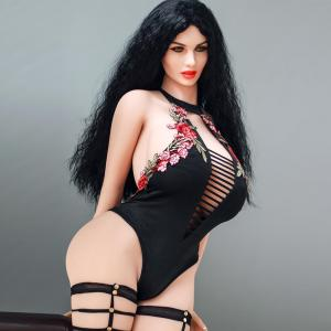 Hot 170cm Realistic Sex Big Fat Ass Black Adult Sexy  Oral Anal Metal Skeleton Tpe Masturbator Love Sex Doll for Men