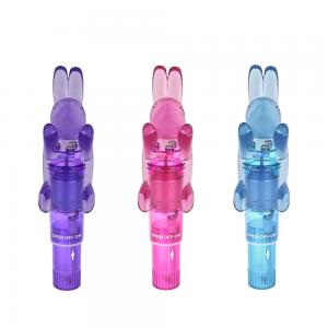 Female Waterproof Single Frequency Vibrating Removable Rabbit Head Vibrator