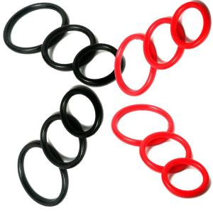 3 Pcs/Set 3 Different Sizes Delay Ejaculation Time-lapse Medical Grade Sex Cock Ring Silicone