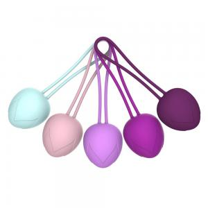 New Ergonomic Design Floor Exercise 100% Waterproof Food Grade Silicone Kegel Balls Kit for Vagina after Childbirth
