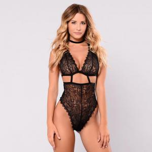 Hot Sale Sexy Lace Stitching Cross Ladies One-Piece Three-Color Ladies Nightclub Essential Sexy Under