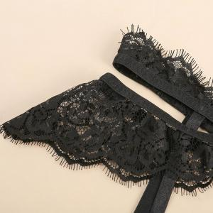 Factory Direct Selling Hot Sexy Black Lace Eyelashes Carving Sexy Lingerie
