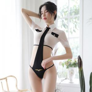 White Sexy One-Piece Tie Cosplay One-Piece Tie Captain Sexy