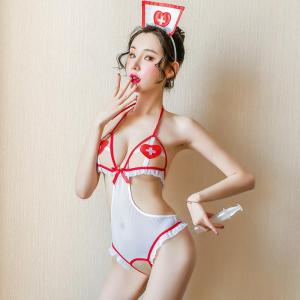 Factory Direct Red And White Sexy Nurse Uniform Cosplay, Sexy Uniform U