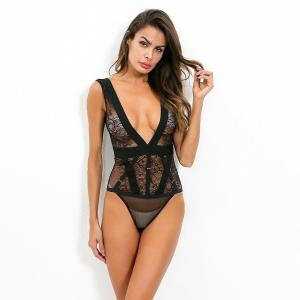 Lace Hollow Big Sexy Lingerie Nightclub Hi Style Sexy Basic Chic Female Sexy