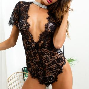 Explosive Style European And American Sexy Lingerie Lace One-Piece Women'S Sexy Lingerie Underw