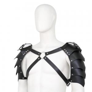 Adjustable Chest Harness Single Pauldron Leather Shoulder Armor Cover Cape Belt Cosplay Party