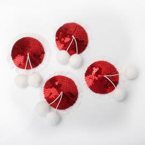 New Adult Fun Products Sequin Creamer Women's Christmas Mini Sequin Nipple Covers