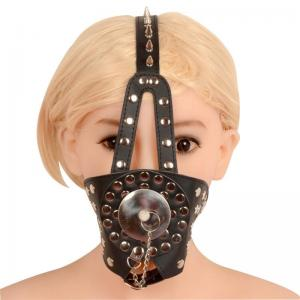 New Shopping Leather Open Mouth Gags SM Sex Toys Enlarge Mouth with Vivet fo