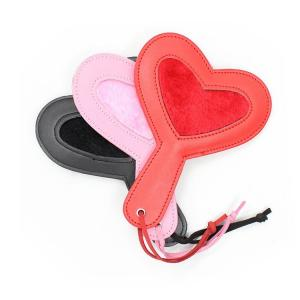 BDSM Bondage Heart-shaped Leather Spanking Paddle Sex Toy For Couple Flirting