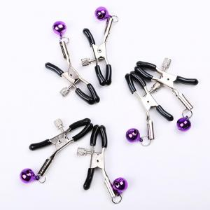Bed Bondage SM Sexy Tools Nipple Clamps with Bell Breast Cl