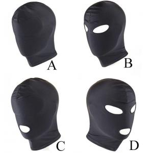 Adult Breathable Polyester Head Eye Full Face Head Mask Headgear for Couple R