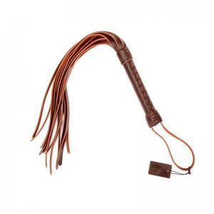 Brown Leather Whip Spanking BDSM Bondage Sex Toy For Couple Flirting SM Game