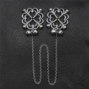Flower Shaped Adjustable Metal Nipple Clamps Chain Sex T