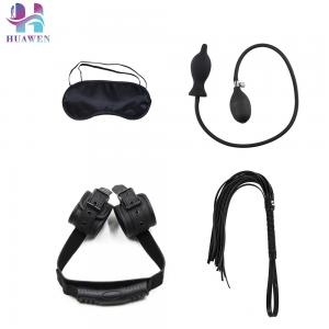 OEM Types Sex Sets 4PCS Handcuffs inflatable anal plugs Eye Mask Whips Combined
