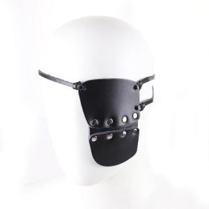 Leather Punk Gothic Steam Punk Rock Women and Men Stylish Costume Eye Mask Goblin Slayer Performance Stage